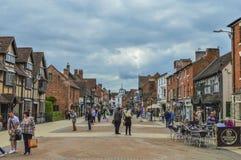 Paisagem e skyline inglesas da cidade de Stratford-em cima-Avon Foto de Stock Royalty Free