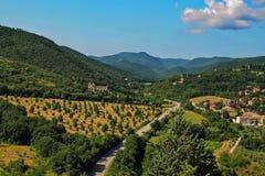 Paisagem em Úmbria perto de Spoleto imagens de stock royalty free