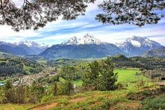 Paisagem em Baviera fotografia de stock
