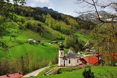 Paisagem em Baviera foto de stock