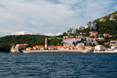 Paisagem em Budva, Montenegro Imagens de Stock Royalty Free
