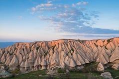 Paisagem em Cappadocia, Turquia Fotos de Stock Royalty Free