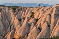 Paisagem em Cappadocia, Turquia Imagens de Stock