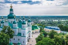 Paisagem em Chernihiv com igreja antiga Fotografia de Stock Royalty Free