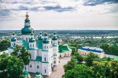 Paisagem em Chernihiv com igreja antiga Imagem de Stock Royalty Free