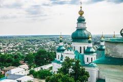 Paisagem em Chernihiv com igreja antiga Fotos de Stock Royalty Free
