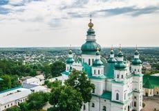 Paisagem em Chernihiv com igreja antiga Foto de Stock Royalty Free