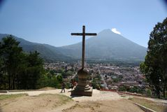 Paisagem em Guatemala Fotografia de Stock Royalty Free