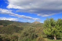 Paisagem em Pyrenees Orientales, França Imagem de Stock