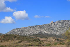 Paisagem em Pyrenees Orientales, França Fotografia de Stock Royalty Free