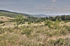 Paisagem em Pyrenees Orientales, França Imagens de Stock