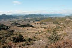 Paisagem em Pyrenees Orientales, França Fotografia de Stock