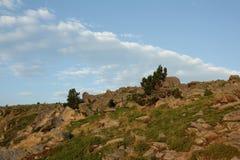 Paisagem em Pyrenees Orientales, França Fotos de Stock