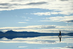 Paisagem em Salar de Uyuni, Bolívia Fotografia de Stock Royalty Free