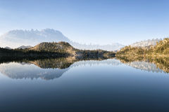 A paisagem em Sierra Nevada, dobra exposto Imagens de Stock