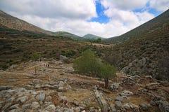 Paisagem em torno de Mycenae e de ruínas Fotos de Stock