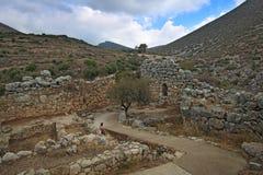 Paisagem em torno de Mycenae e de ruínas Imagens de Stock Royalty Free