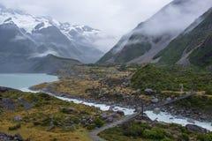 Paisagem em torno do Mt Parque nacional do cozinheiro/Aoraki, Nova Zelândia Fotos de Stock