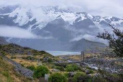 Paisagem em torno do Mt Parque nacional do cozinheiro/Aoraki, Nova Zelândia Fotos de Stock Royalty Free
