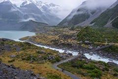 Paisagem em torno do Mt Parque nacional do cozinheiro/Aoraki, Nova Zelândia Imagem de Stock Royalty Free