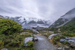 Paisagem em torno do Mt Parque nacional do cozinheiro/Aoraki, Nova Zelândia Fotografia de Stock Royalty Free