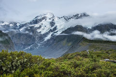 Paisagem em torno do Mt Parque nacional do cozinheiro/Aoraki, Nova Zelândia Foto de Stock Royalty Free