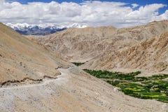 Paisagem em torno do Tso de Pangong Pangong do lago em Ladakh, Indi Fotografia de Stock Royalty Free