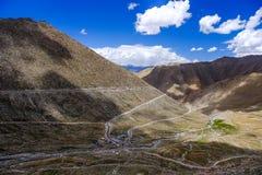 Paisagem em torno do Tso de Pangong Pangong do lago em Ladakh, Indi Imagens de Stock