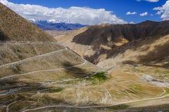 Paisagem em torno do Tso de Pangong Pangong do lago em Ladakh, Indi Fotos de Stock Royalty Free
