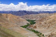 Paisagem em torno do Tso de Pangong Pangong do lago em Ladakh, Indi Imagem de Stock