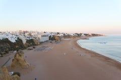 Paisagem em uma praia Imagem de Stock