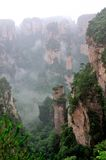 Paisagem em Zhangjiajie de China Foto de Stock