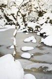 Paisagem escocesa do inverno imagens de stock
