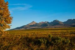 Paisagem eslovaca do outono da natureza com floresta colorida Imagens de Stock Royalty Free