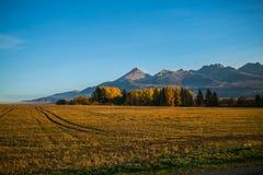 Paisagem eslovaca do outono da natureza com floresta colorida Imagem de Stock Royalty Free