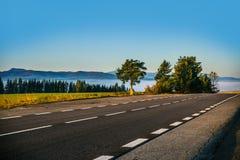 Paisagem eslovaca do outono da natureza com floresta colorida Foto de Stock