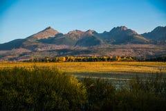 Paisagem eslovaca do outono da natureza com floresta colorida Imagens de Stock