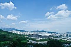 Paisagem, estádio do copo de mundo de Seoul Fotografia de Stock Royalty Free