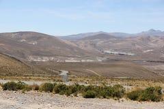 A paisagem estéril do Altiplano fotografia de stock royalty free