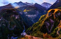 Paisagem fantástica da montanha fotografia de stock