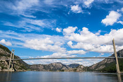 Paisagem fantástica da natureza, Lysefjorden, Forsand, Noruega, Europa Imagem de Stock Royalty Free