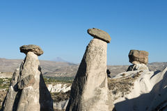 Paisagem feericamente da chaminé de Cappadocia, curso Turquia fotos de stock
