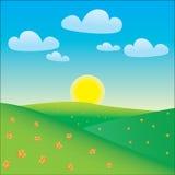 Paisagem feliz dos desenhos animados Imagem de Stock