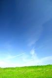 A paisagem fina com céu duro e o sol irradiam Imagem de Stock Royalty Free