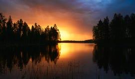 Paisagem finlandesa bonita foto de stock