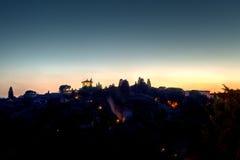 Paisagem Florença da noite de Tuscan, Itália Fotos de Stock Royalty Free