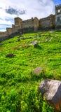 Paisagem, fortaleza de Khertvisi Fotos de Stock Royalty Free