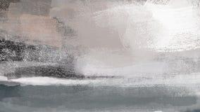 Paisagem fria da neve do inverno com pintura da ilustração da floresta Fotografia de Stock Royalty Free