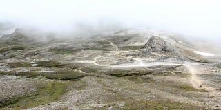 Paisagem futurista da montanha Fotografia de Stock
