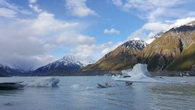 Paisagem gelada fria bonita em Nova Zelândia imagens de stock
